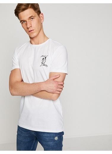 Koton Baskılı Tişört Beyaz